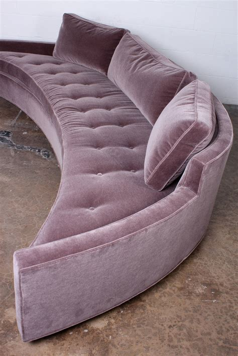 curved sofa for bay window curved sofa by harvey probber in mohair at 1stdibs