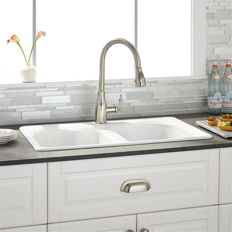 cast iron kitchen sink 32 quot berwick white bowl cast iron drop in kitchen