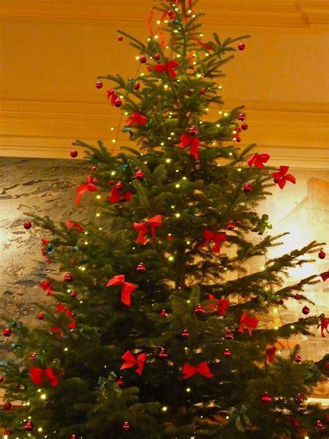 der weihnachtsbaum foto der weihnachtsbaum mit den schleifen geo