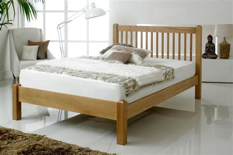 king size oak bed frame trafalgar solid oak bed frame 5ft king size solid oak