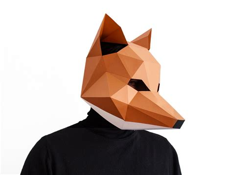 origami fox mask make your own fox mask animal fantastic by