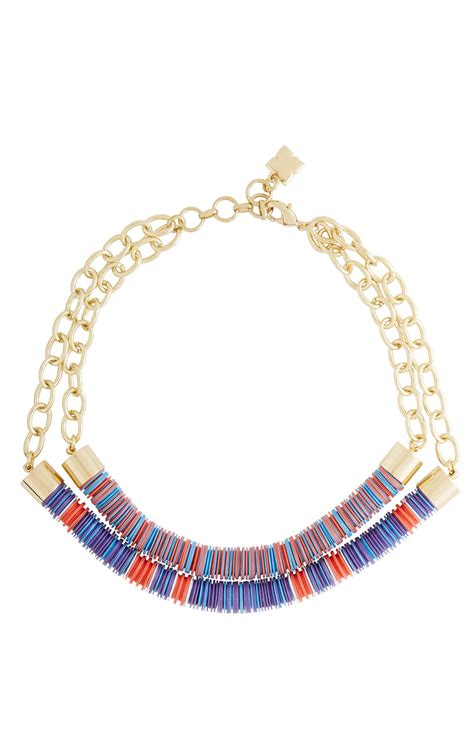 beaded tribal necklace dual beaded chain tribal necklace