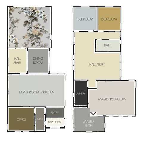 Home Interior And Gifts Inc gray and gold paint palette laurel home