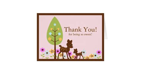 Message For Baby Shower Thank You Cards by Deer Baby Shower Thank You Note Card Zazzle