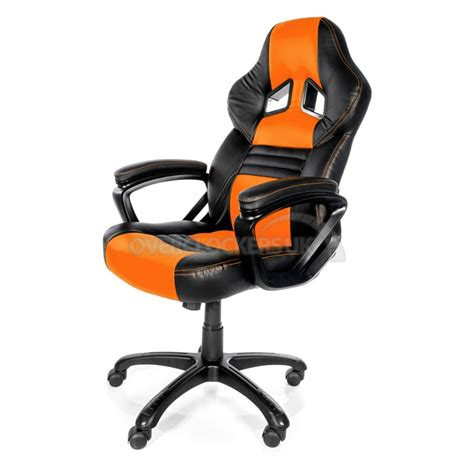 Orange Gaming Chair by Arozzi Monza Gaming Chair Orange Ocuk