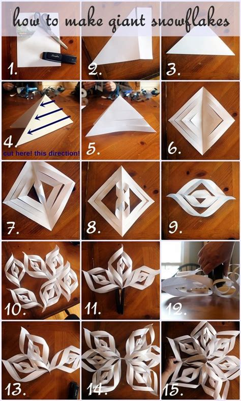 how to make paper crafts step by step how to make paper snowflakes step by step photo