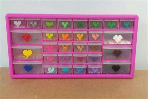 perler bead organizer perler bead storage organization drawers big pink box sold