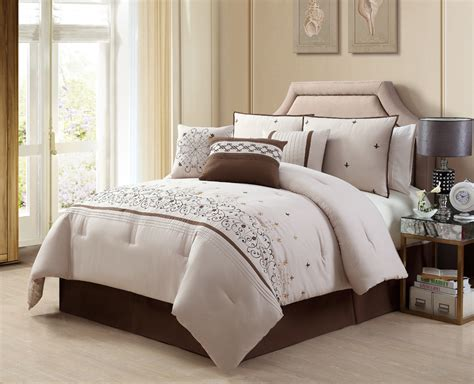 brown and white comforter sets beige comforter simple bright themed bedroom with