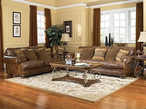 rustic living room furniture sets rustic living room sets winslow traditional rustic brown