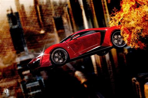 Fast And Furious 7 Car Wallpaper by Furious 7 W Motors Lykan Hypersport Jump Hd Wallpaper