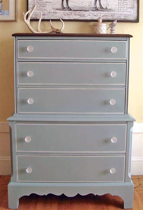 chalk paint vs general finishes milk paint blue dresser with chapin gray details general