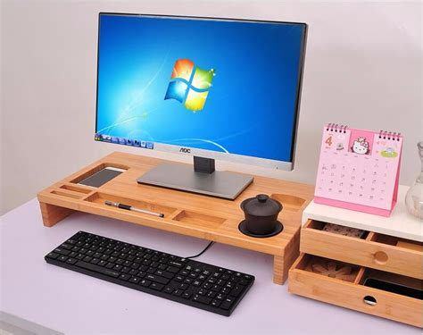 bamboo computer desk bamboo computer desk monitor stand with desk