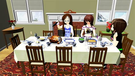 Where Can I Buy Dining Room Chairs mmd holiday dinner stage dl by onimau619 on deviantart