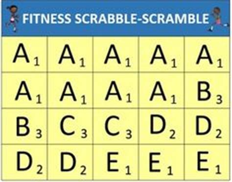 scrabble word pe pe activities on physical education pe