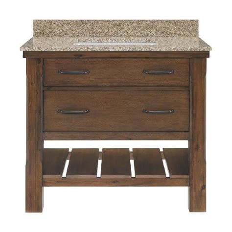 bathroom vanity sink top shop patmore mocha glaze undermount single sink bathroom