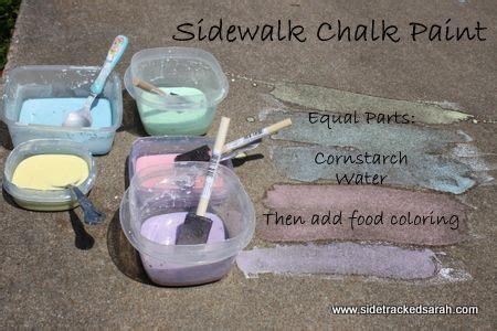 diy chalk paint using cornstarch make sidewalk chalk paint cornstarch water and food