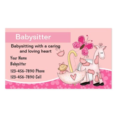 how to make babysitting cards business cards bizcardstudio