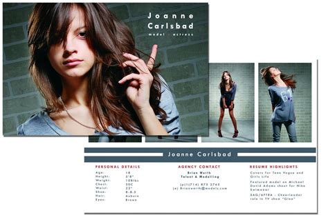 how to make a comp card for free comp card template e commercewordpress