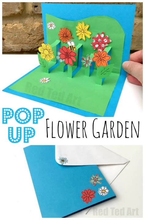 pop up cards for children to make 3d flower card diy pop up cards for ted s