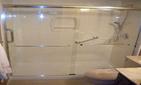 Walk In Shower Kits With Seat shower inserts with seat lowe s walk in shower stalls