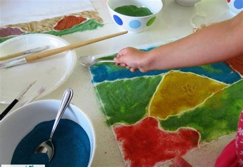 sand craft projects colored sand ideas easy arts and crafts ideas
