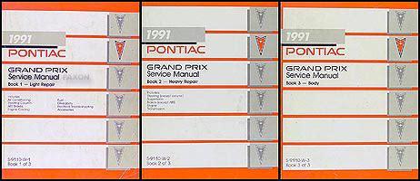 1997 pontiac grand prix repair shop manual original 2 volume set 1991 pontiac grand prix repair shop manual original 3 volume set