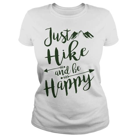 mens womens just hike and be happy hiking t shirts 19 00