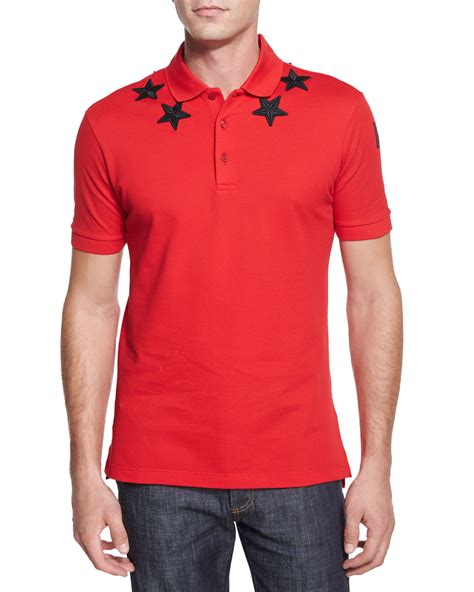 knit polo shirt givenchy print knit polo shirt in for lyst