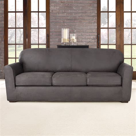 sure fit stretch sofa slipcovers sure fit ultimate stretch sofa slipcover reviews wayfair