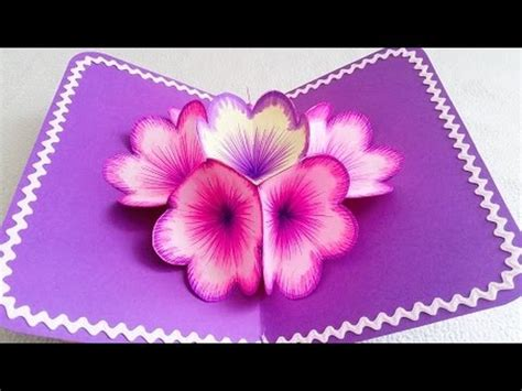 how to make a flower pop up card diy 3d flower pop up card