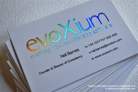 how to make a hologram card holographic foil business card evoxium luxury business