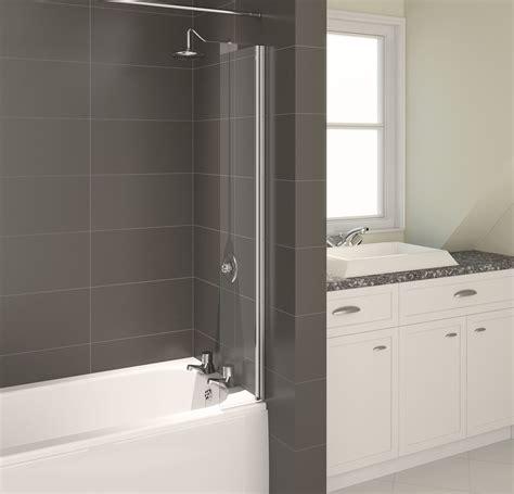 Folding Glass Bath Shower Screen aqualux aqua4 splash guard bath screen nationwide bathrooms
