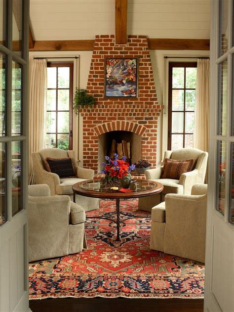 paint colors for living room with brick fireplace bright brick living room fireplace hgtv
