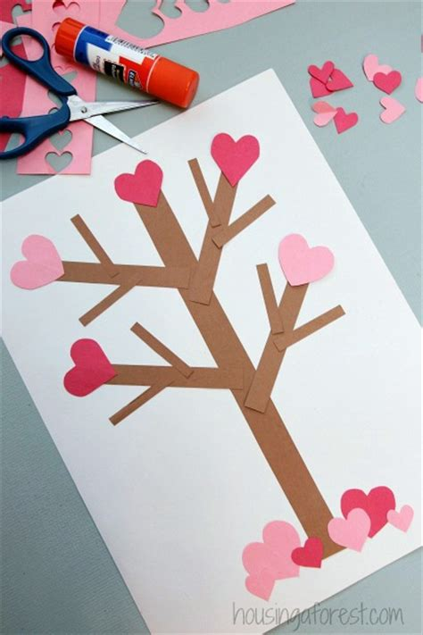 valentines day paper crafts s day tree paper craft housing a forest