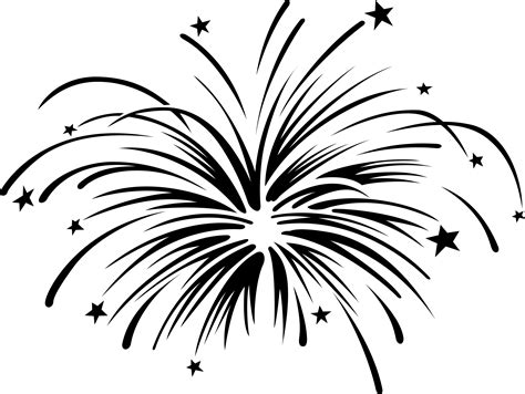 black and white fireworks clipart black and white free clipart