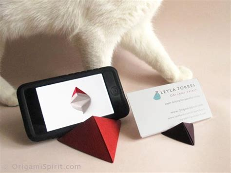 origami with stand origami for a pyramid stand for iphone or