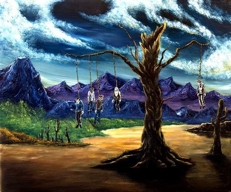 bob ross paintings buy evil bob ross series i happy hanging tree by