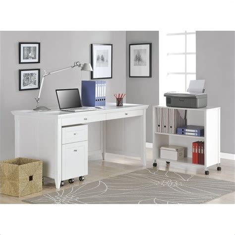 desks with storage altra furniture amelia desk with mobile storage cube and