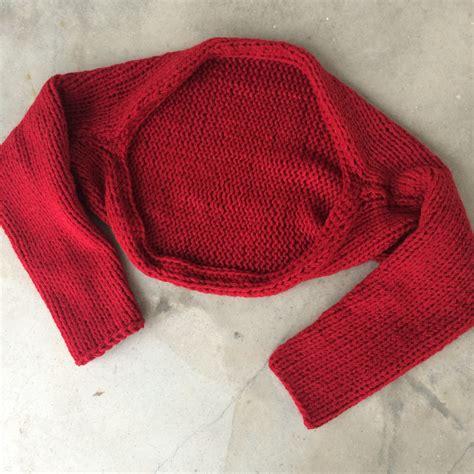 simple bolero knitting pattern simple knitted shrug marni made it