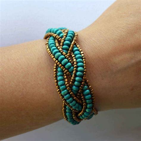 Beaded Bracelet With Turquoise Wooden