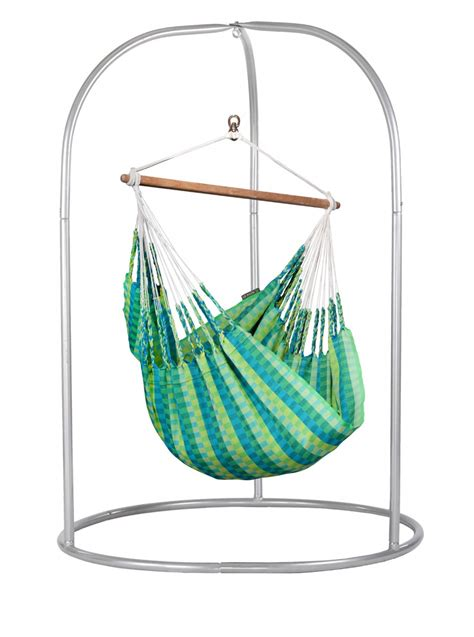 hammock chairs with stands romano silver powder coated steel stand for basic hammock chairs