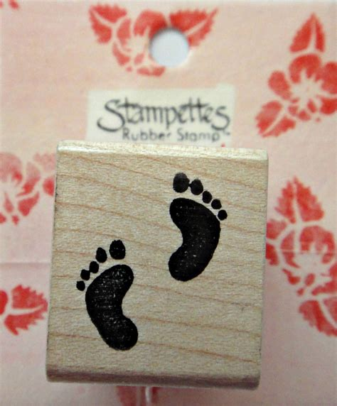 baby footprint rubber st baby footprints rubber st