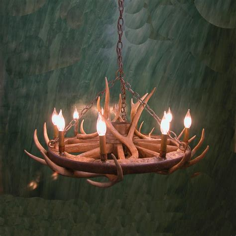 deer chandelier wagon wheel mule deer antler chandelier