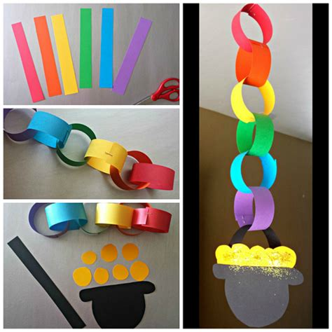 paper chain crafts rainbow chain craft for st s day crafty morning