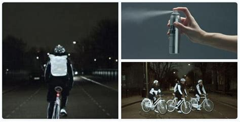 glow in the bike paint volvo quot lifepaint quot by volvo a glow in the paint to save lives