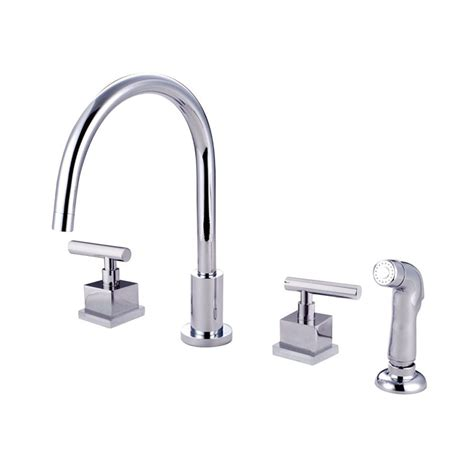 chrome kitchen faucet shop elements of design polished chrome 2 handle deck mount high arc kitchen faucet at lowes