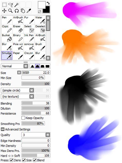 paint tool sai yahoo blur smudge tool in paint sai yahoo answers