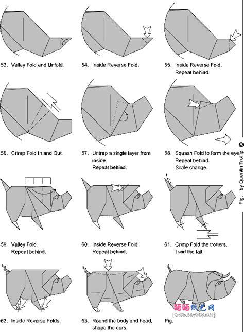 origami pigs origami pig 6 stuff origami easy