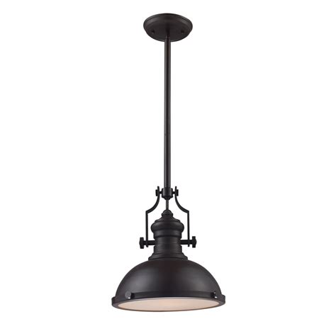 lowes pendant lights shop portfolio 13 in w bronze standard pendant light