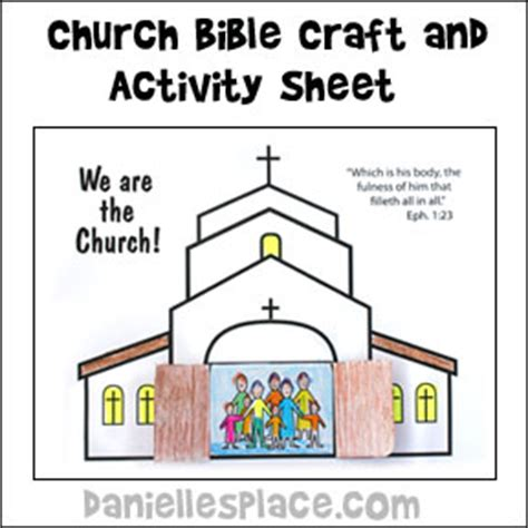 crafts for at church we are the church activity and coloring sheet bible craft